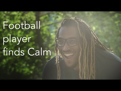 Professional football player finds Calm after years of struggling with depression