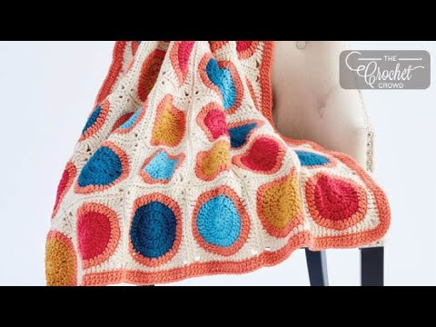 How to Crochet Circle Squares Granny Blanket