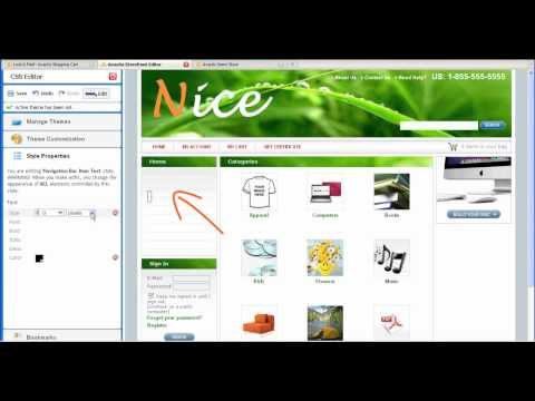 Avactis Shopping Cart - CSS Editor - Video Tutorial
