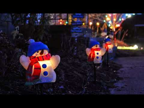 Snowman Lights Christmas Decorating Ideas