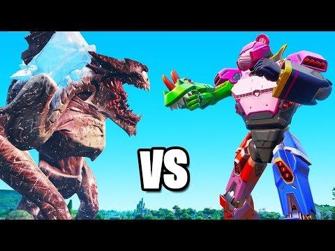 The MONSTER vs ROBOT FIGHT in FORTNITE! (Live Event)