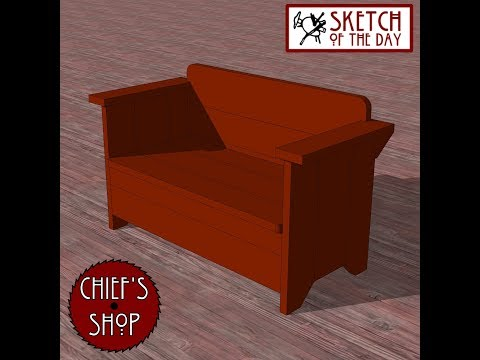 Chief's Shop Sketch of the Day: Pub Bench