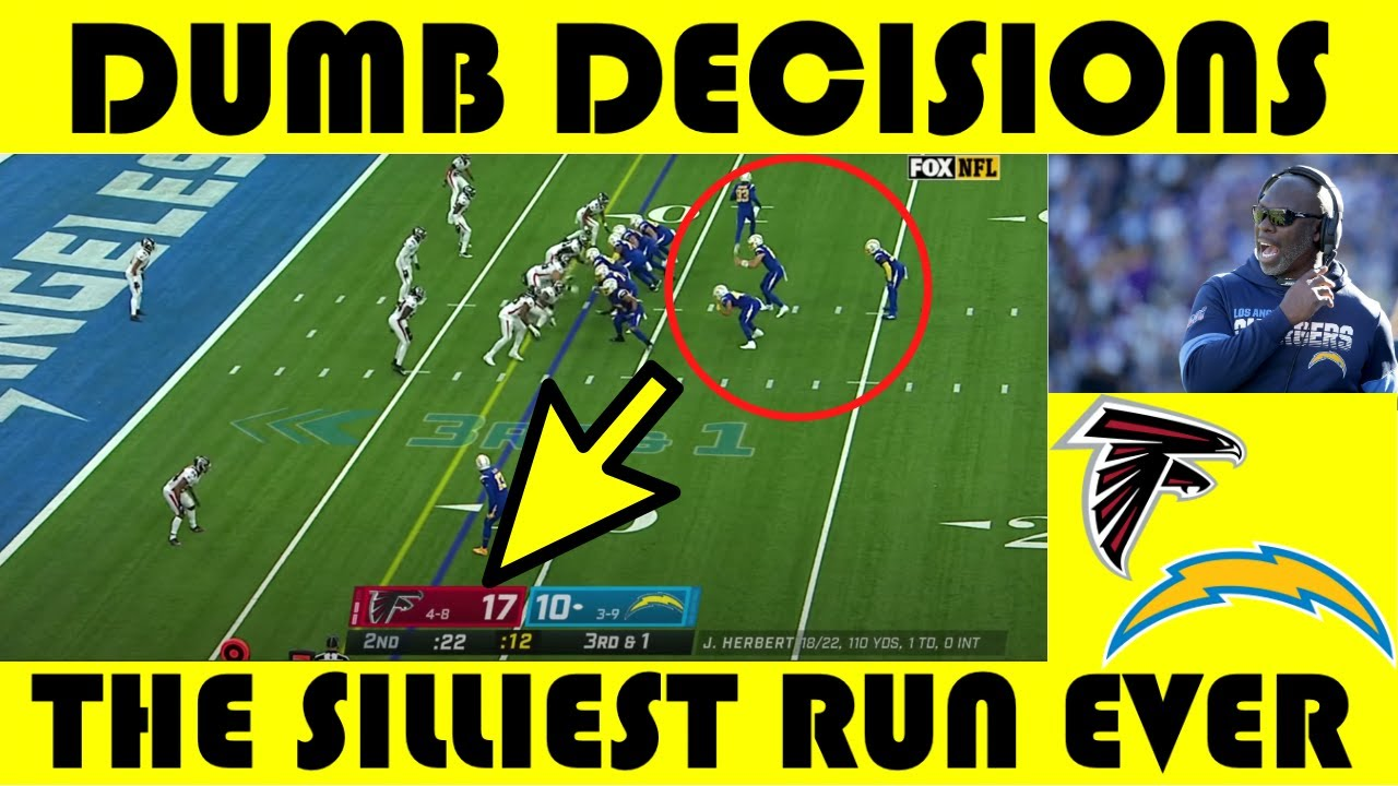 Dumb Decisions: Anthony Lynn & The SILLIEST Run Ever | Falcons @ Chargers (2020)