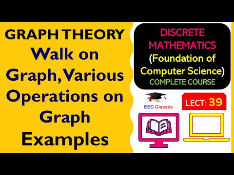 Walk on Graph, Various Operations on Graph with Solved Examples in Hindi