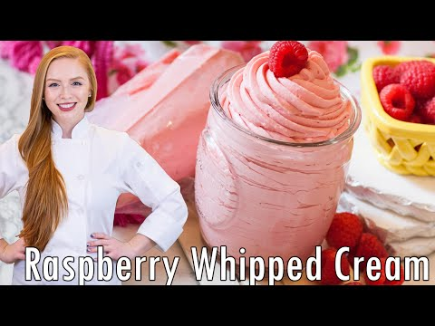 Raspberry Whipped Cream Frosting