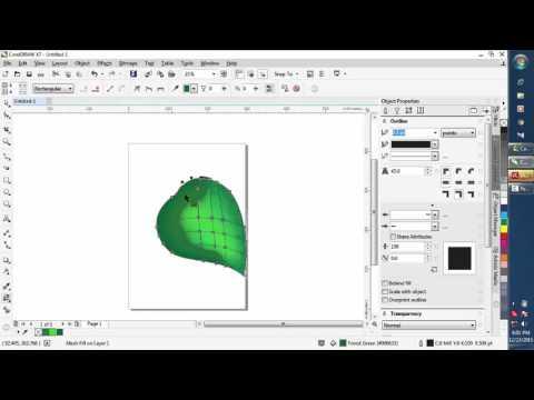 tutorial menggunakan mesh fill gradient pada coreldraw