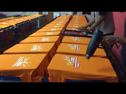 how to make 5 color screen printing on t-shirt