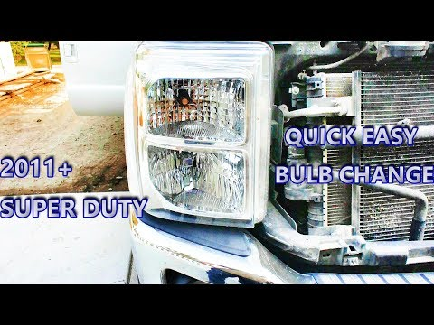 How to: headlight bulb replacement (with grill removal) 2011 and up SUPER DUTY