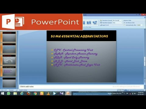 How to create a Slideshow in PowerPoint (PPT) on Laptop