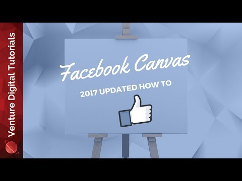 Creating A Canvas In Facebook - 2017 Updated