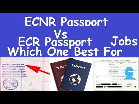 ECR Passport vs ECNR Passport Which One Best For Job l Emigration Check Requiredl ECR Passport Job