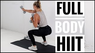 NO REPEAT WORKOUT // Full body HIIT Workout with Weights