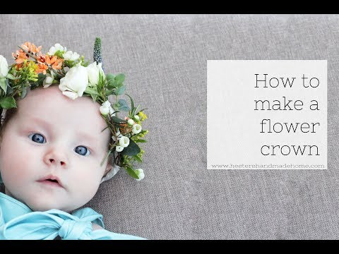 Make a flower crown, the perfect wedding accessory