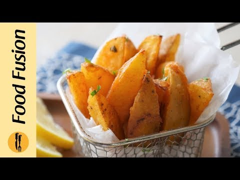 Potato wedges baked and fried recipe by food fusion