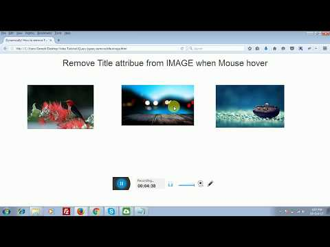 How to remove Title tag from Image at runtime from JQUERY