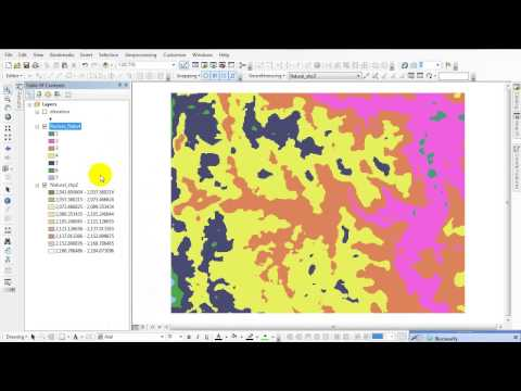 Topographic Map in ArcGIS 10.3