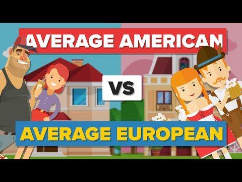 Average American vs Average European - How Do They Compare? - People Comparison