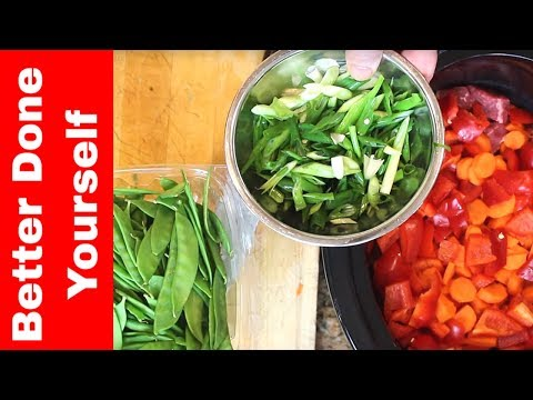 Ginger Beef with Vegetables in the Slow Cooker