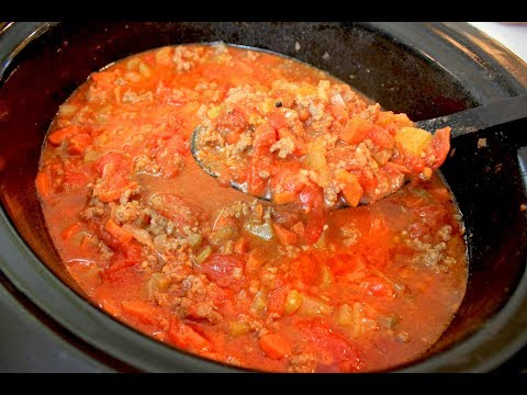 Crockpot Meat Sauce Recipe: Homemade Meat Sauce In A Slow Cooker
