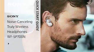 Setup Guide    Sony SP-700N Sports Headphones