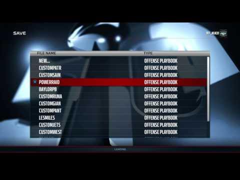 MADDEN 16: CUSTOM PLAYBOOK WALK THROUGH-POWERRAID & NCAA 14 BAYLOR