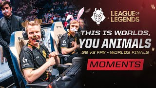 This Is Worlds, You Animals | G2 vs FPX - Worlds Finals Moments