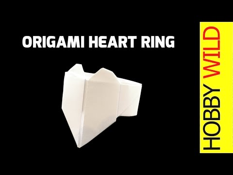 How To Make A Paper Heart Ring (Origami) 💖