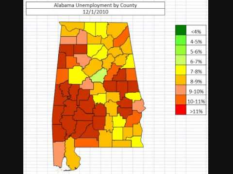 Alabama Unemployment By County October 2013