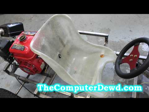How to build a go kart : Part 7 : Brake/Throttle Pedal Connections and Seat Mount