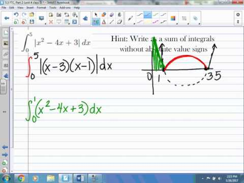 Finding the Definite Integral of an Absolute Values Function