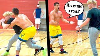 Trash Talker Gets PISSED & EXPOSED! 5v5 Basketball!