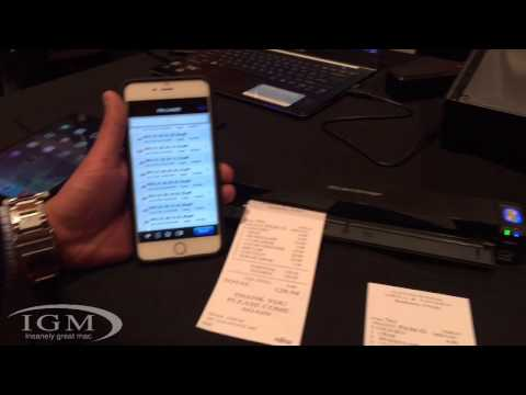 ScanSnap ix100 portable/mobile scanner - CES 2015