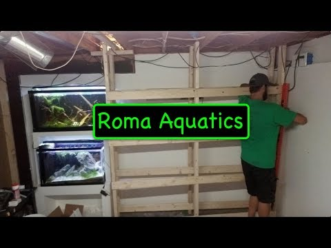 How To Build A  DIY Wood Rack For 8 20 Gallon Long Fish / Shrimp Tanks - RomaAquatics.com 🆒