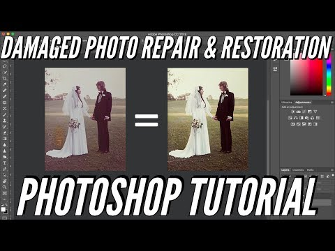 Damaged Photo Repair and Restoration | Importing & Photoshop Tutorial