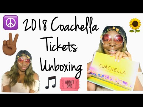 2018 Coachella Tickets Unboxing