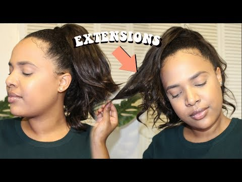 HOW TO: Quick & Easy High Ponytail With Weave/Extensions | The Devine Collection Hair