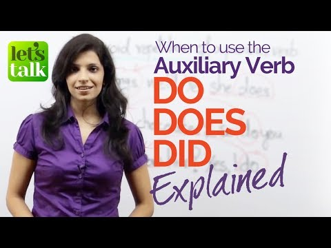 English Grammar lesson - Using Do, Does & Did correctly. Improve your English speaking.