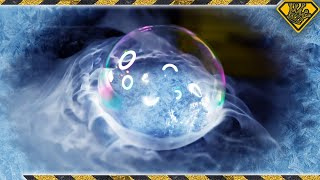 Blowing Bubbles in a FROZEN Environment