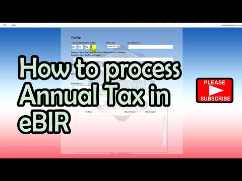 eBIR (Annual Tax Return) tutorial