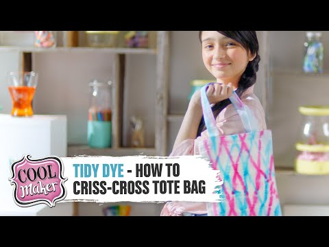 Tidy Dye Station - How to Design a Criss-Cross Tote Bag