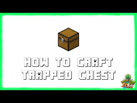 Minecraft 1.12.2: How to Make TRAPPED CHESTS! Recipe Tutorial for Minecraft 1.12.2 | 2018