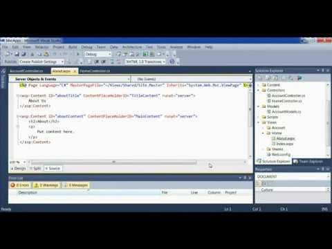 visual studio 2010 mvc web aplication