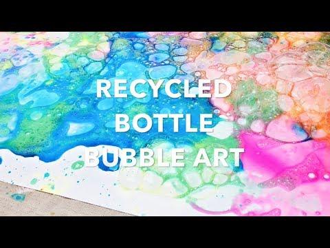 Recycled Bottle Bubble Art