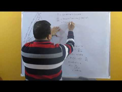 Prove that the least perimeter of an isosceles triangle... An IIT question