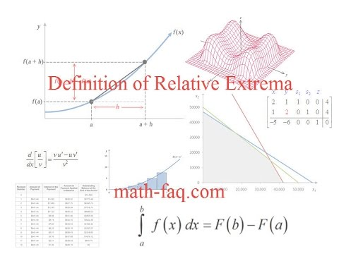 Definition of Relative Extrema