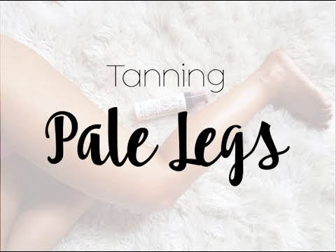 Tanning pale legs!