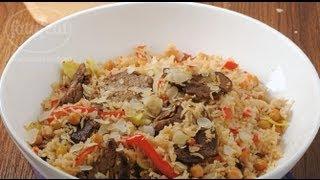 لحم عجل مع الحمص والأرز باللوز - سلمى في البيت - فتافيت