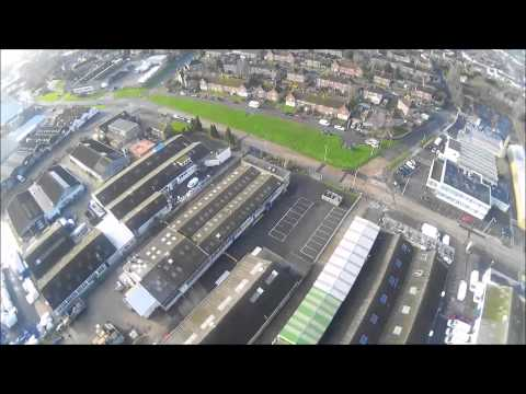 Quadcopter flight to outlet Ashford