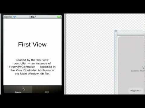 Xcode 4 iPhone SDK Tutorial - How to create a custom Tab Bar HD