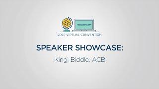 Toastmasters 2020 Convention Speaker Showcase: Kingi Biddle